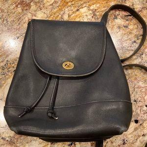 Coach Vintage Leather Dark Navy Backpack